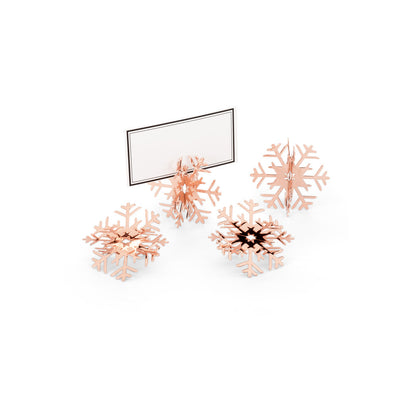 Rose Gold Snowflake Place Card Holder Ornaments -  Christmas - AC-Abbott Collection - Putti Fine Furnishings Toronto Canada - 3