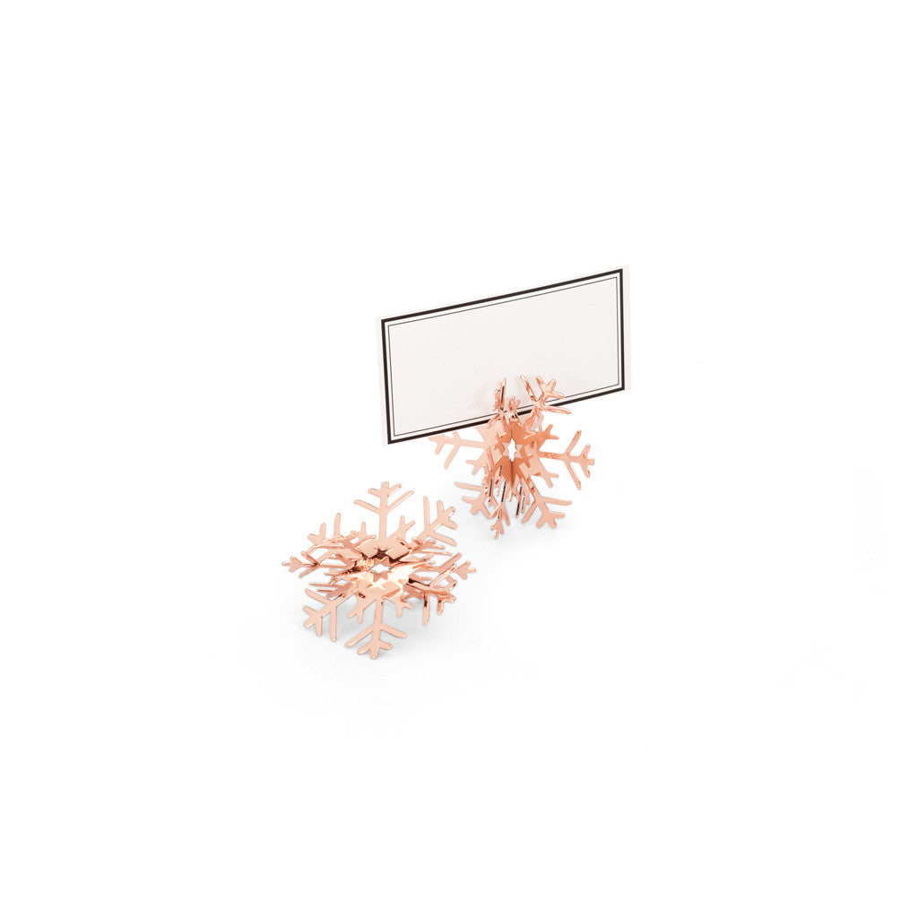 Rose Gold Snowflake Place Card Holder Ornaments -  Christmas - AC-Abbott Collection - Putti Fine Furnishings Toronto Canada - 1