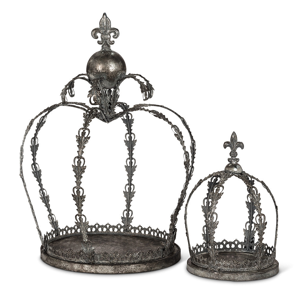 Silver Finish Ornate Metal Crowns
