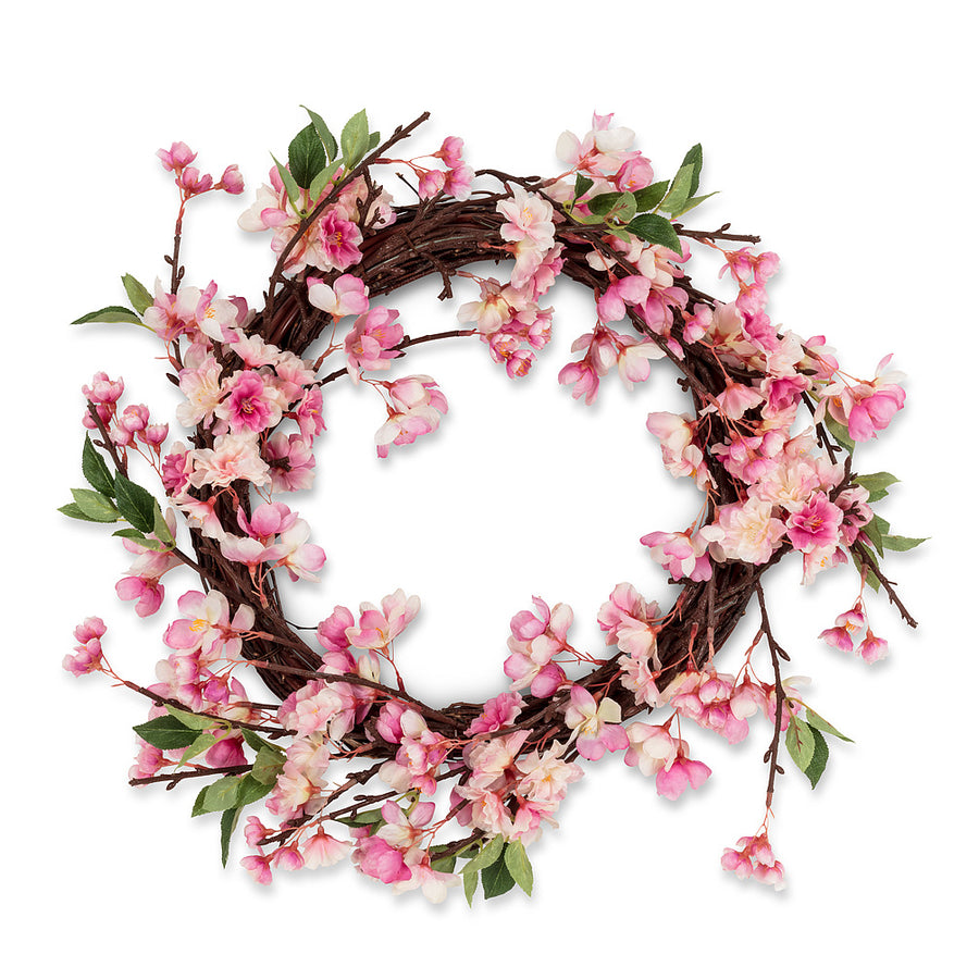 Pink Cherry Blossom Wreath - Large