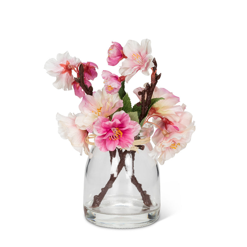Pink Cherry Blossom Wreath in Vase, AC-Abbott Collection, Putti Fine Furnishings