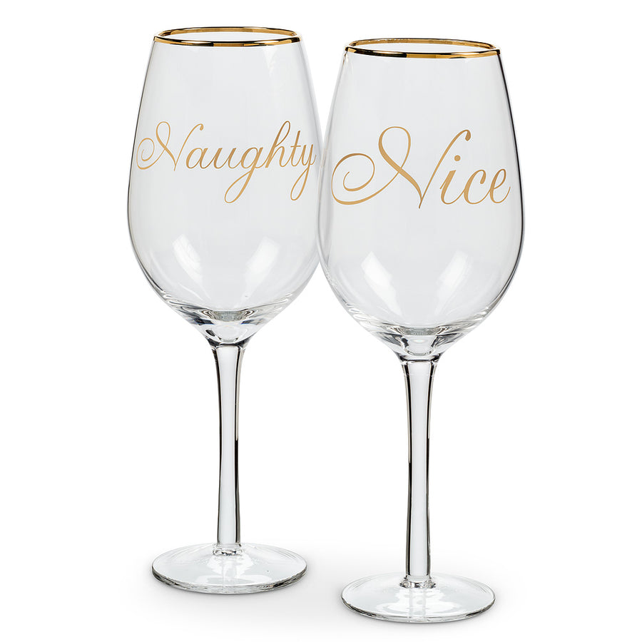 """Naughty"" and ""Nice"" Words Goblets"