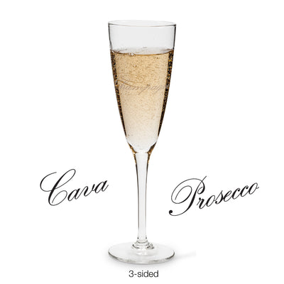 """Prosecco"" Words Flute, AC-Abbott Collection, Putti Fine Furnishings"