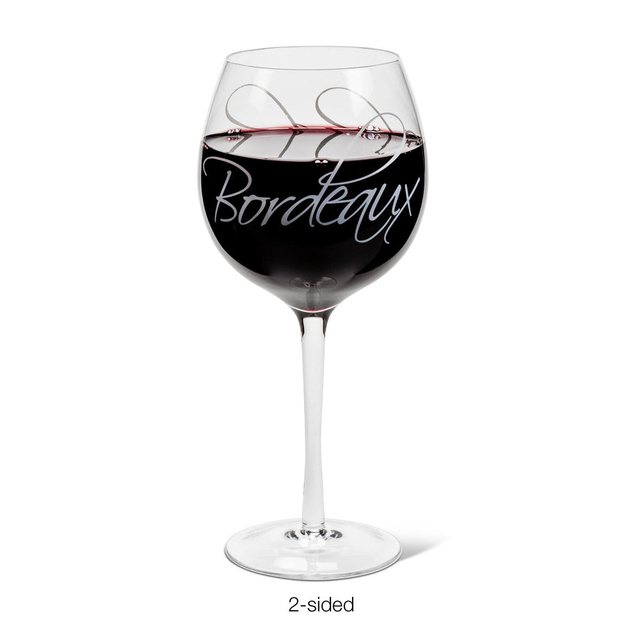 """Bordeaux Chardonnay"" Words Goblet"