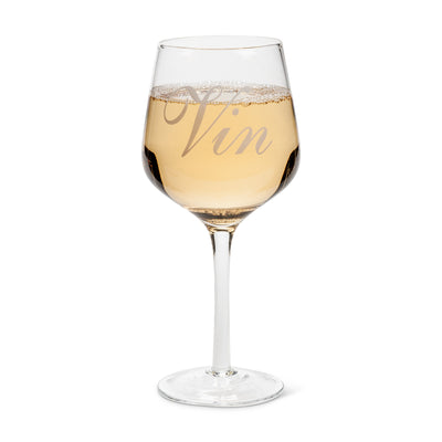 """Vin"" Words Wine Glass -  Glassware - Abbot Collection - Putti Fine Furnishings Toronto Canada - 2"