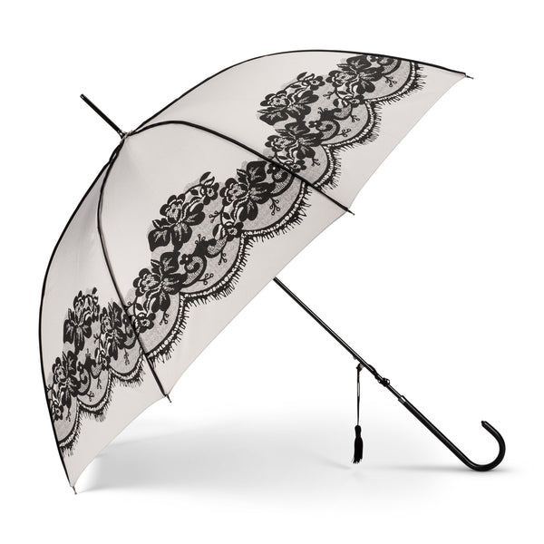 Grey Lace Umbrella-Personal Accessories-AC-Abbott Collection-Putti Fine Furnishings