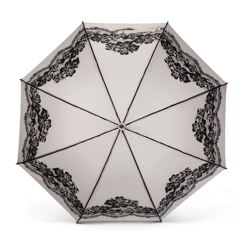 Grey Lace Umbrella -  Personal Accessories - Abbot Collection - Putti Fine Furnishings Toronto Canada - 1