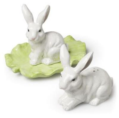 Rabbit and Leaf Salt and Pepper, AC-Abbott Collection, Putti Fine Furnishings