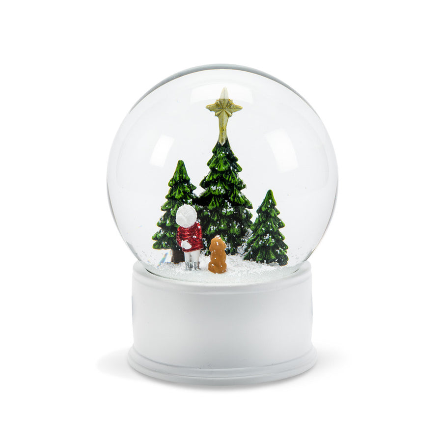 Child Gazing at Star Snow Globe