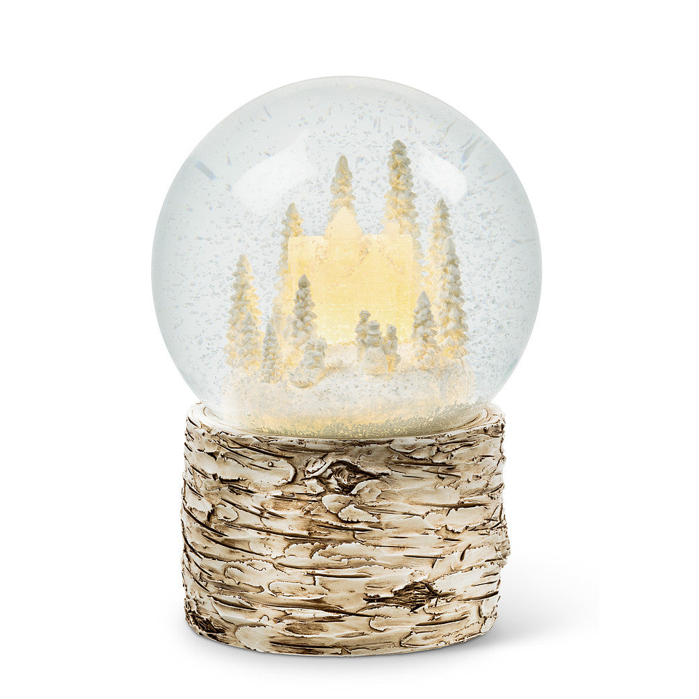 Large Glowing House LED Snow Globe-Christmas-AC-Abbott Collection-Putti Fine Furnishings