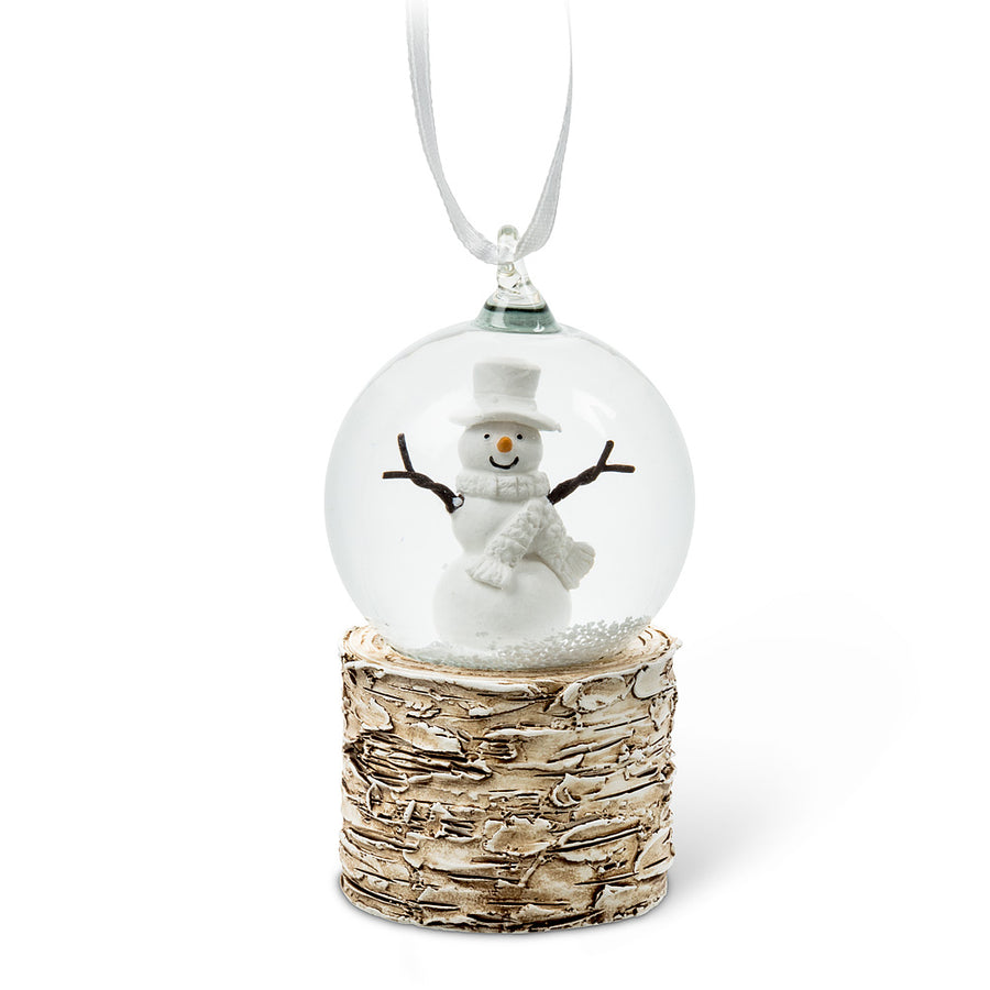 Small Snowman Snowglobe Ornament