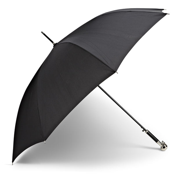 Black Skull Handled Umbrella -  Personal Accessories - AC-Abbott Collection - Putti Fine Furnishings Toronto Canada - 1
