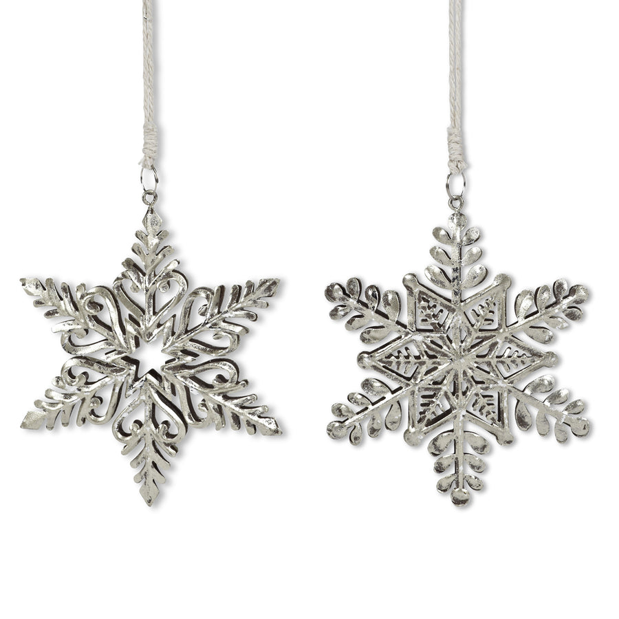 Silver Metal Snowflake Ornament