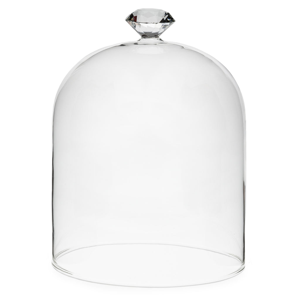"Gem Top Dome Cloche-Accessories-AC-Abbott Collection-Large 7""h-Putti Fine Furnishings"