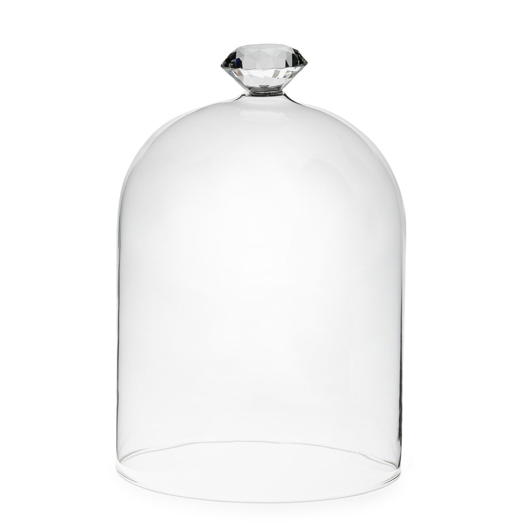 "Gem Top Dome Cloche - Medium 6""h Accessories - Abbot Collection - Putti Fine Furnishings Toronto Canada - 2"