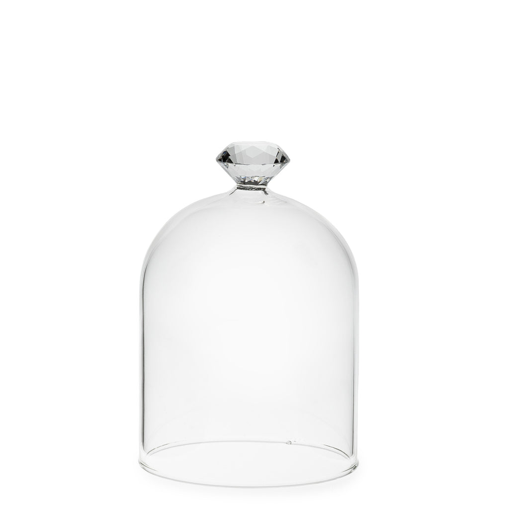"Gem Top Dome Cloche - Small 5""h Accessories - Abbot Collection - Putti Fine Furnishings Toronto Canada - 1"