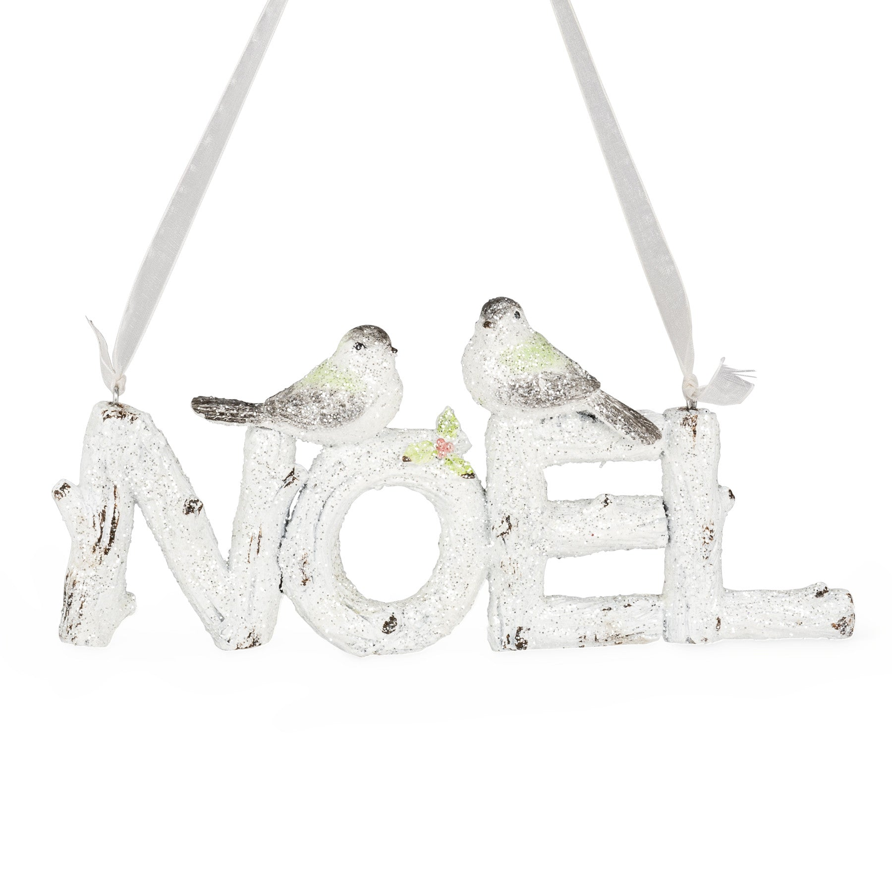 "Glitter ""Noel"" Sign with Birds"
