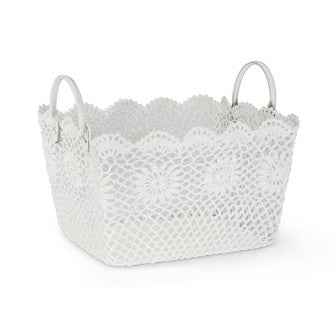 Large Rectangular Lace Basket-Storage-AC-Abbott Collection-Putti Fine Furnishings