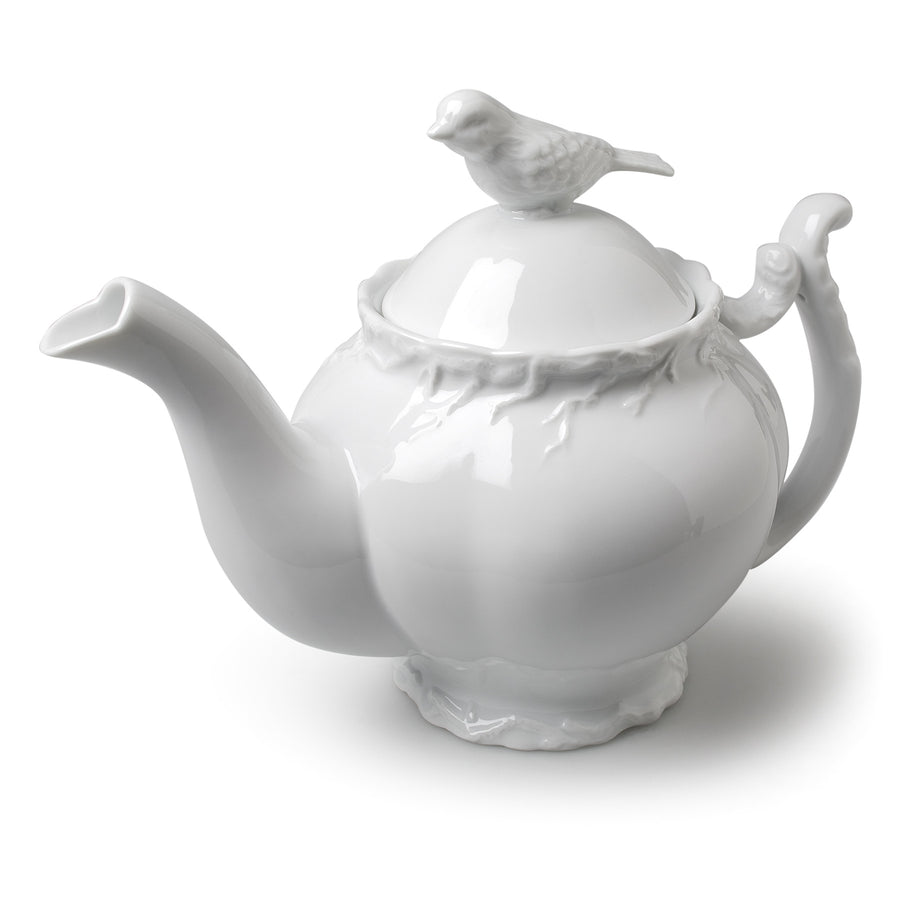 Bird & Branch Teapot - White