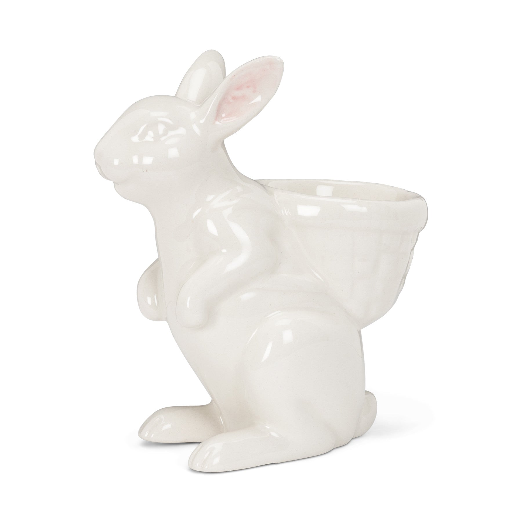 White Rabbit Egg Cup, AC-Abbott Collection, Putti Fine Furnishings