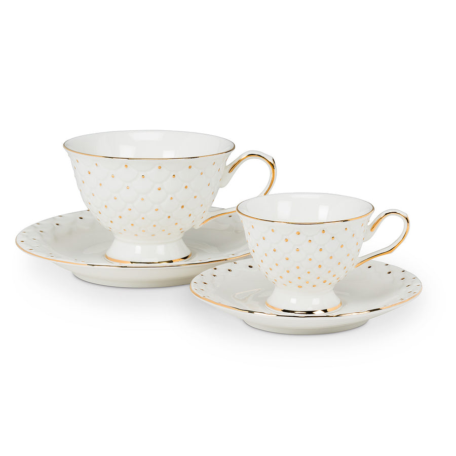 Espresso Cup & Saucer with Dot and Scallop
