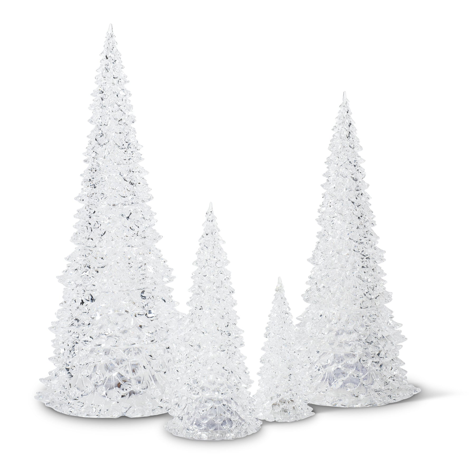 Ice Cone tree with LED Light - Medium -  Christmas - Abbot Collection - Putti Fine Furnishings Toronto Canada - 1