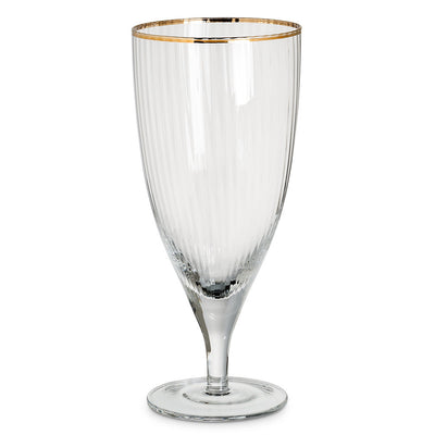 Optic Tall Glass with Gold Rim -  Glassware - Abbot Collection - Putti Fine Furnishings Toronto Canada - 1
