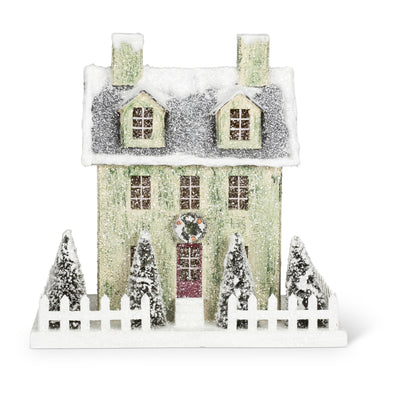 Christmas Village House with LED Light - Large, AC-Abbott Collection, Putti Fine Furnishings