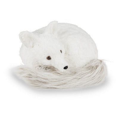 Curled up Fox with Fur Tail - Large -  Christmas - AC-Abbott Collection - Putti Fine Furnishings Toronto Canada - 1