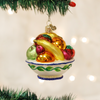 Old World Christmas Fruit Bowl Glass Ornament, OWC-Old World Christmas, Putti Fine Furnishings