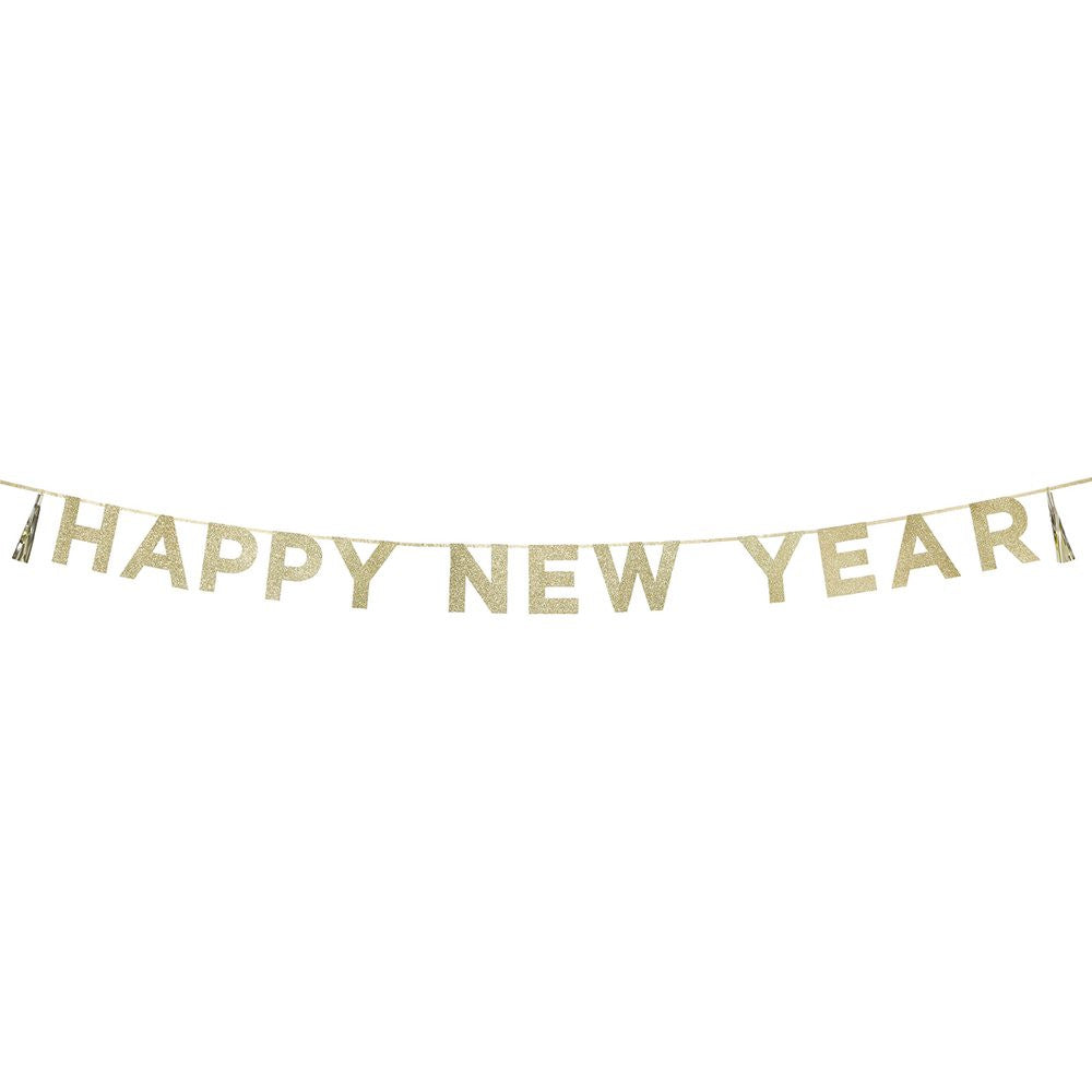 "Say It With Glitter ""Happy New Year"" Banner, TT-Talking Tables, Putti Fine Furnishings"