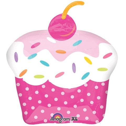 """Cupcake Party"" Mylar Balloon"
