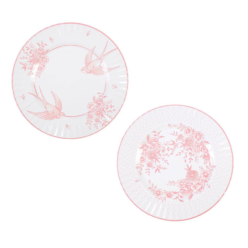 Party Porcelain Rose Paper Plates - Large, TT-Talking Tables, Putti Fine Furnishings