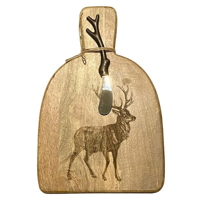 Stag Serving Board with Spreader