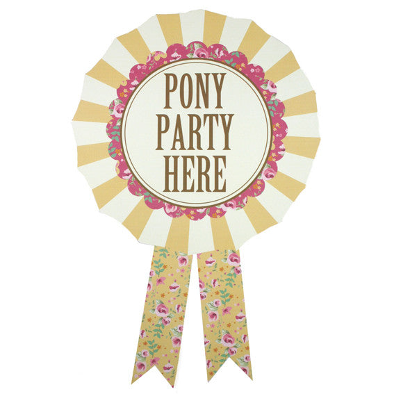 Pony Party - Free Printable Door Rosette
