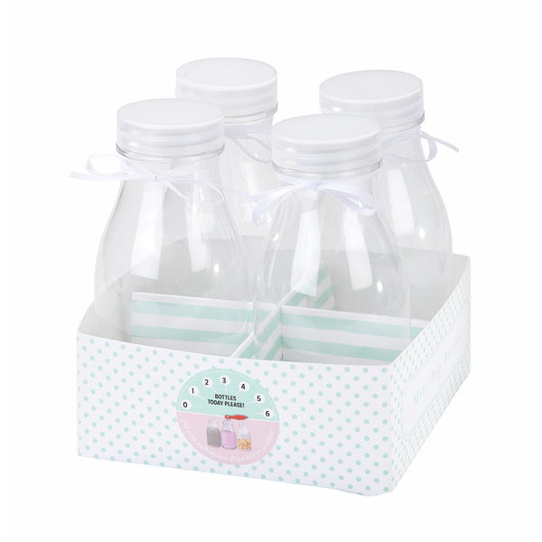 Mini Plastic Milk Bottles -  Party Supplies - Talking Tables - Putti Fine Furnishings Toronto Canada - 1