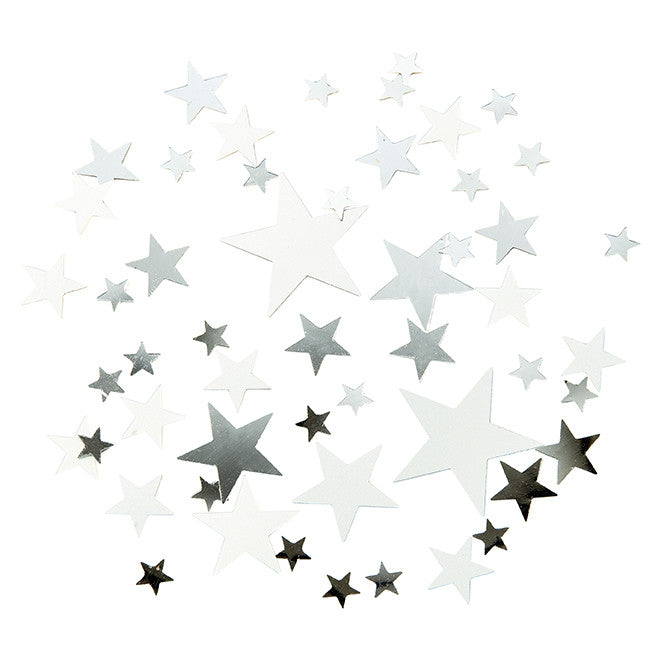 Party Porcelain Silver Star Scatter -  Party Supplies - Talking Tables - Putti Fine Furnishings Toronto Canada - 1