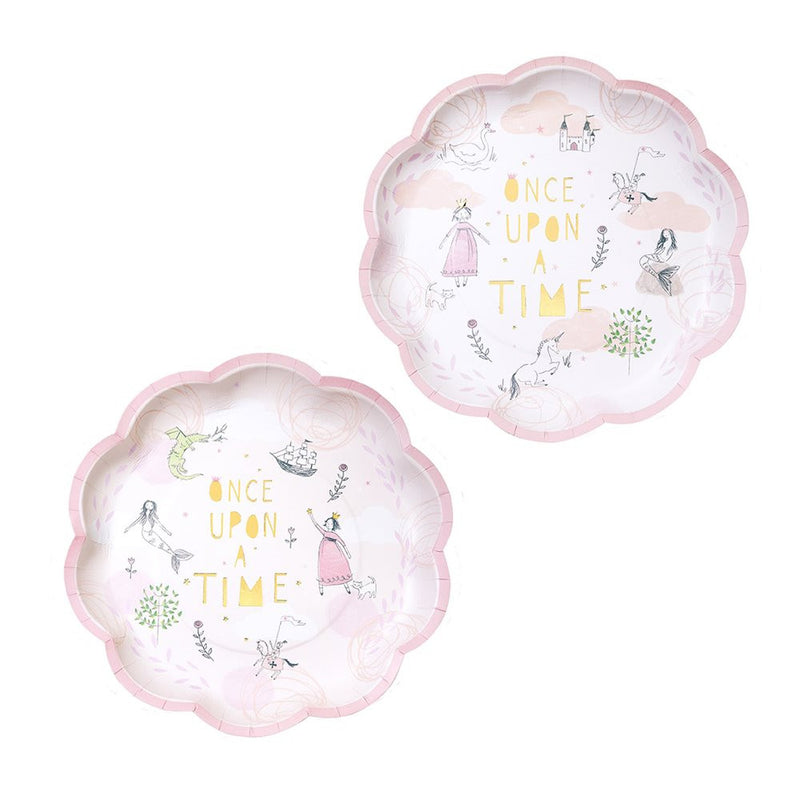 """We Heart Fairytale"" Pink Paper Plates, TT-Talking Tables, Putti Fine Furnishings"
