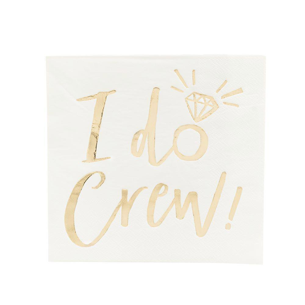 """I Do Crew"" Gold Foiled Paper Napkins - Lunch"