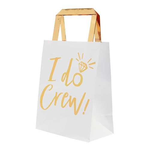 """I Do Crew"" Gold Foil Party Bags, GR-Ginger Ray UK, Putti Fine Furnishings"