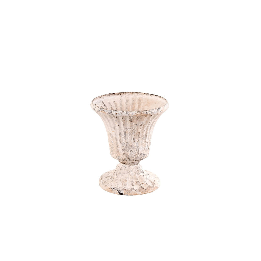"""Clover"" Antique White Mini Urn"