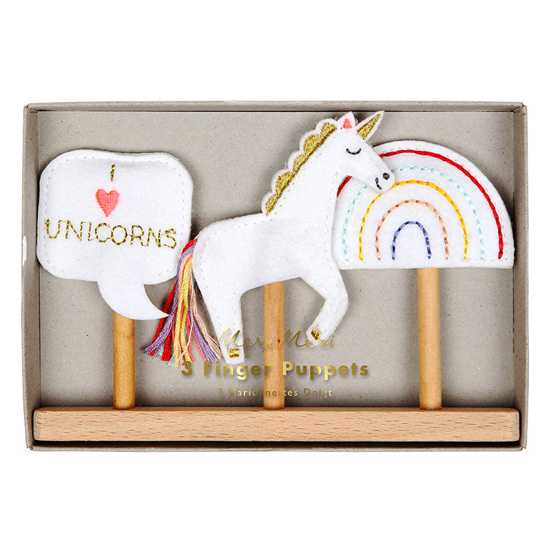 Meri Meri Unicorn Finger Puppets, MM-Meri Meri UK, Putti Fine Furnishings