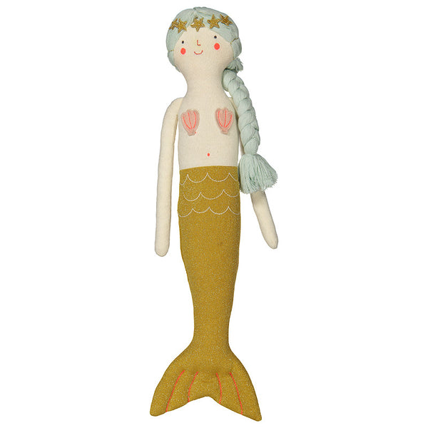 Meri Meri Knitted Mermaid Doll Cushion-Children's Toys-MM-Meri Meri UK-Putti Fine Furnishings