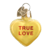 Old World Conversation Hearts Glass Ornament - True Love Christmas Decorations - Old World Christmas - Putti Fine Furnishings Toronto Canada - 4