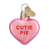 Old World Conversation Hearts Glass Ornament - Cutie Pie Christmas Decorations - Old World Christmas - Putti Fine Furnishings Toronto Canada - 8