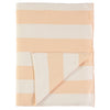 Meri Meri Peach & Ivory Stripe Knitted Blanket, MM-Meri Meri UK, Putti Fine Furnishings