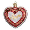 Old World Christmas Amore Heart Glass Ornament -  Christmas Decorations - Old World Christmas - Putti Fine Furnishings Toronto Canada - 1