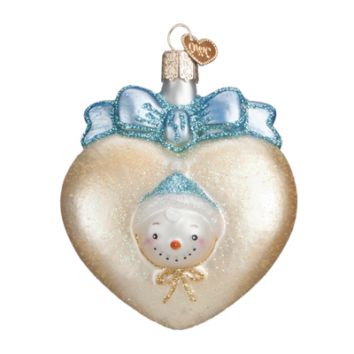 Old World Christmas Baby's First Glass Ornament - Blue Christmas Decorations - Old World Christmas - Putti Fine Furnishings Toronto Canada - 3