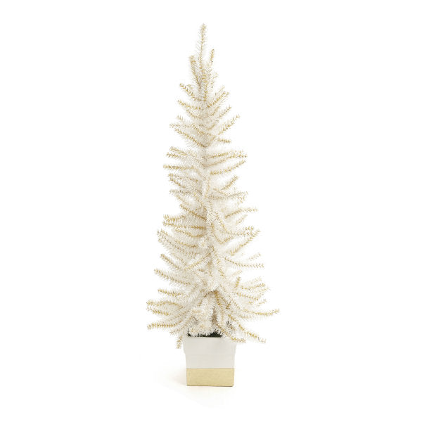 White and Gold Tree in Pot | Putti Christmas Celebrations Canada