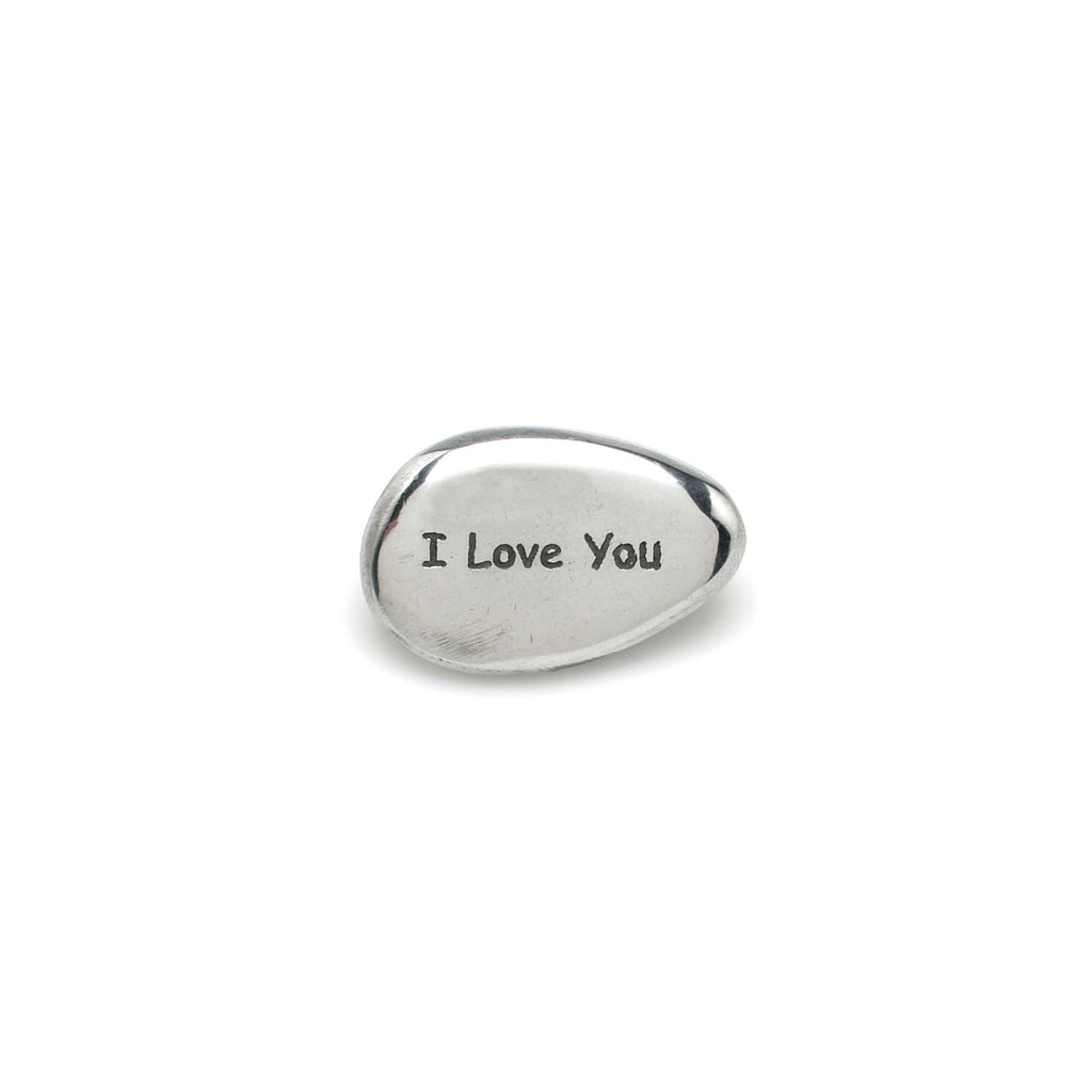 """I Love You"" Pebble -  Giftware - Abbot Collection - Putti Fine Furnishings Toronto Canada"